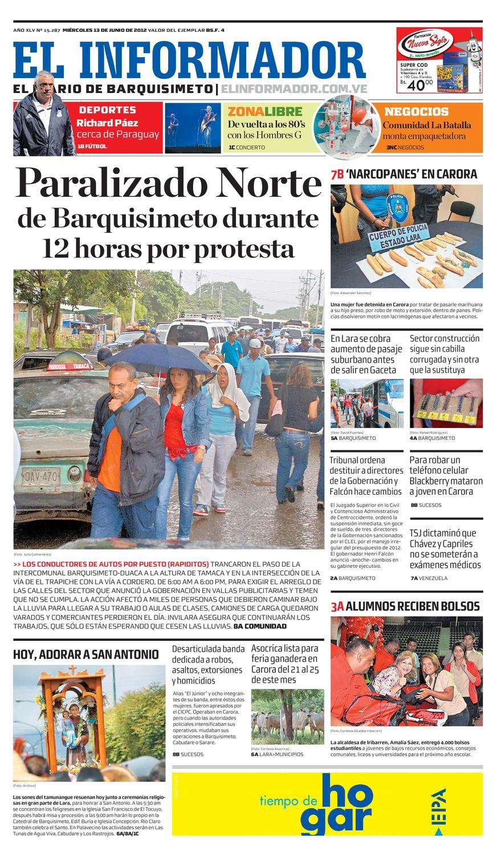 El Informador impreso 2012.06.13 by El Informador - Diario online  Venezolano - issuu d2e363c1c3b