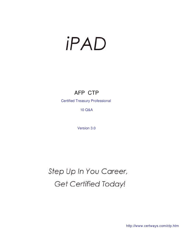 Certways Ctp Exam Certified Treasury Professional By Cert Ways Issuu