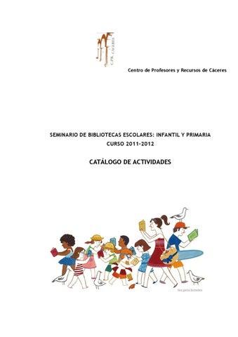 Catalogo Actividades Bibliotecas Escolares Infantil Y