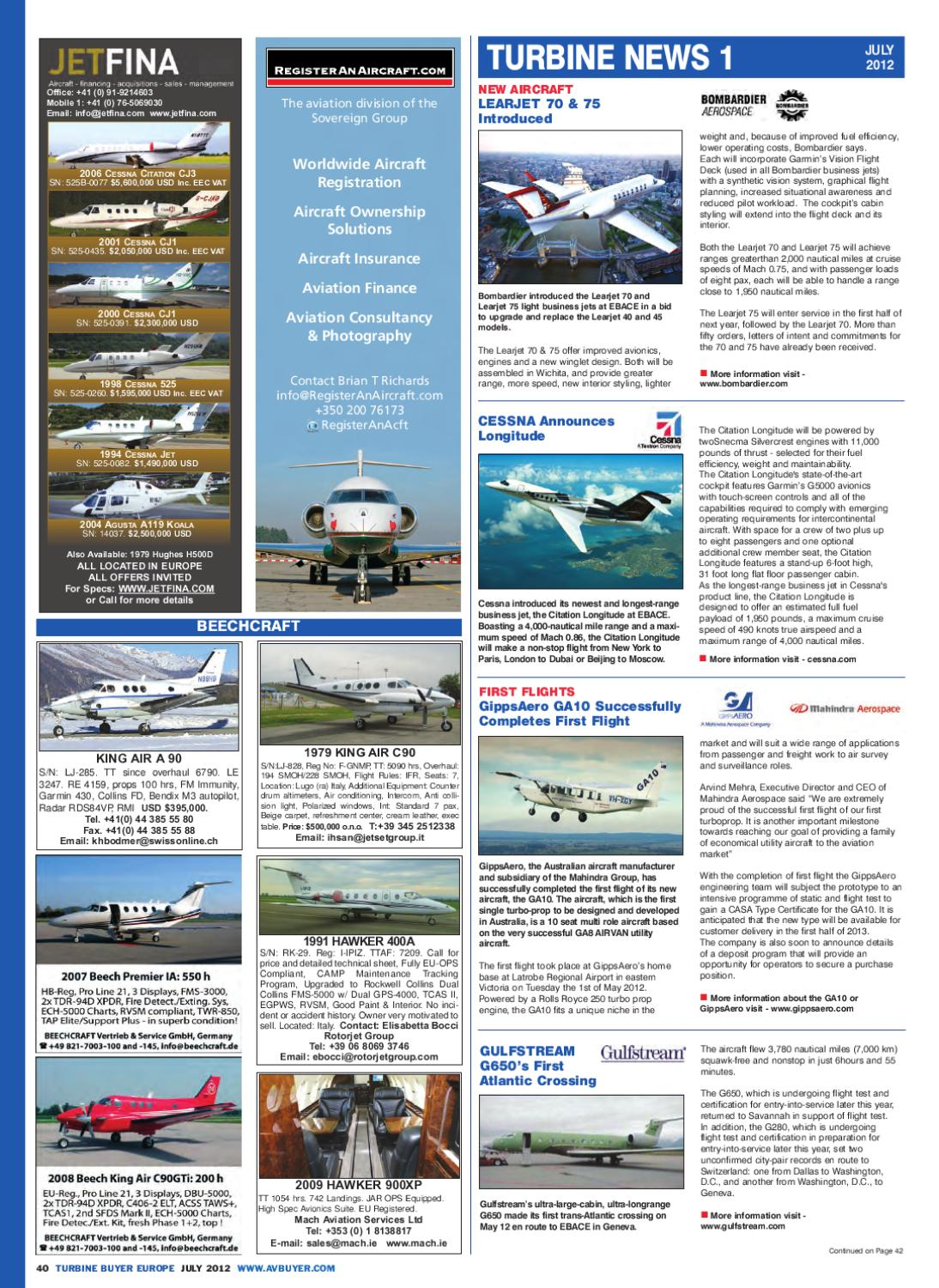 GABuyer Europe Magazine July-12 by AvBuyer Ltd  - issuu