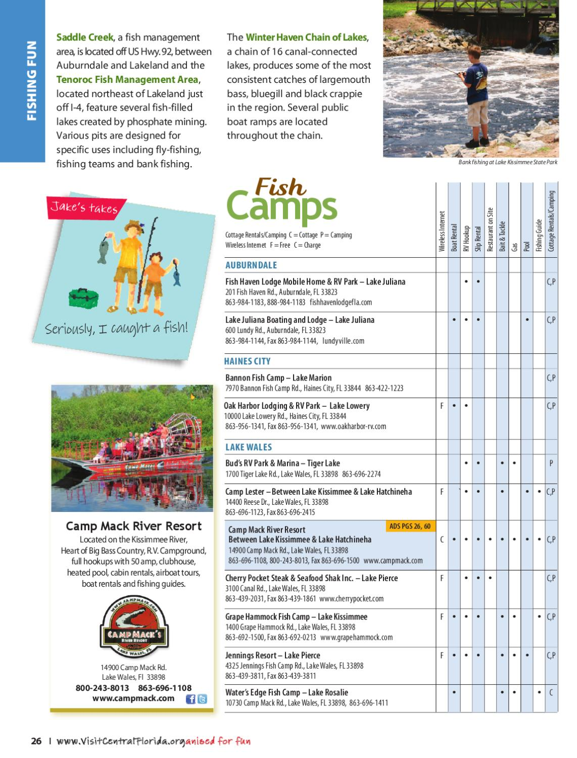 Central florida vacation guide 2012 edition by jessica for Tenoroc fish management area