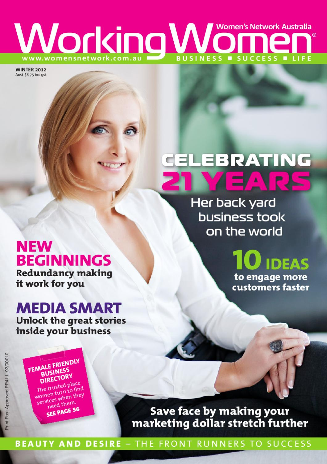 working women magazine winter 2012 edition by women u0027s network