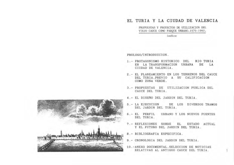 El Turia y la ciudad de Valencia. Propuestas de utilización del ...