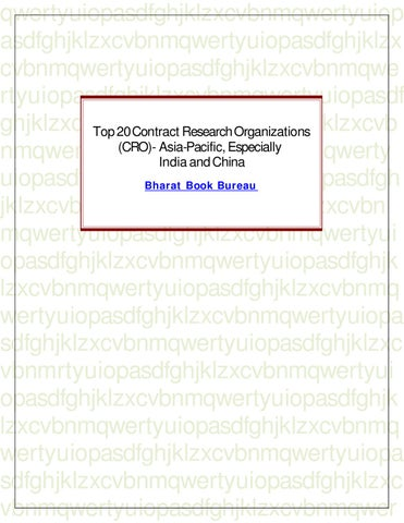 Cro 20140409 book by penny chase issuu top 20 contract research organizations cro asia pacific especially india and china fandeluxe Choice Image