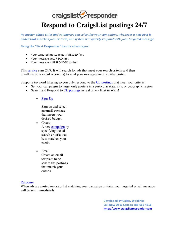 craigslist advertisement by Craigslistresponder - issuu