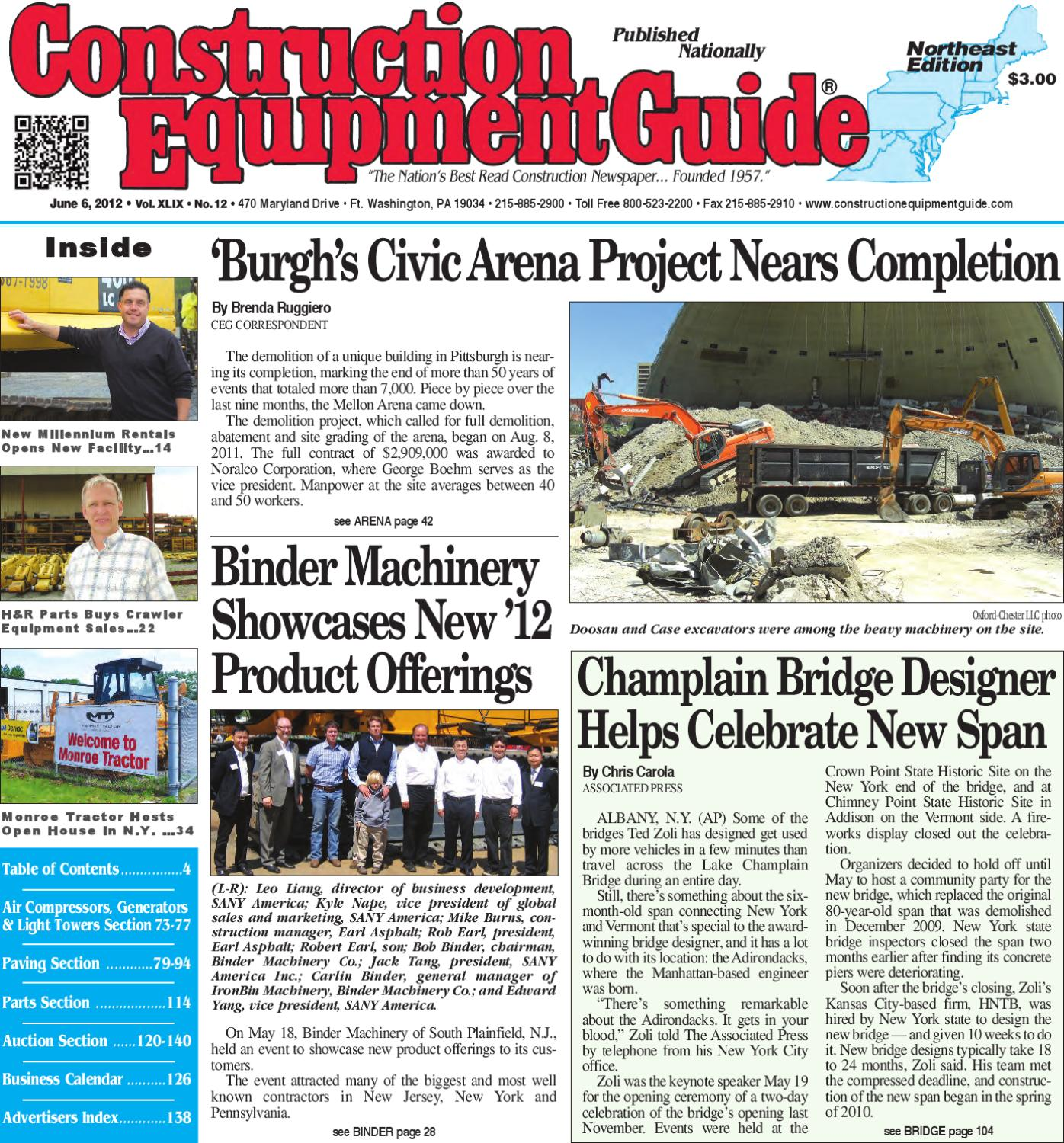 Northeast #12, 2012 by Construction Equipment Guide - issuu