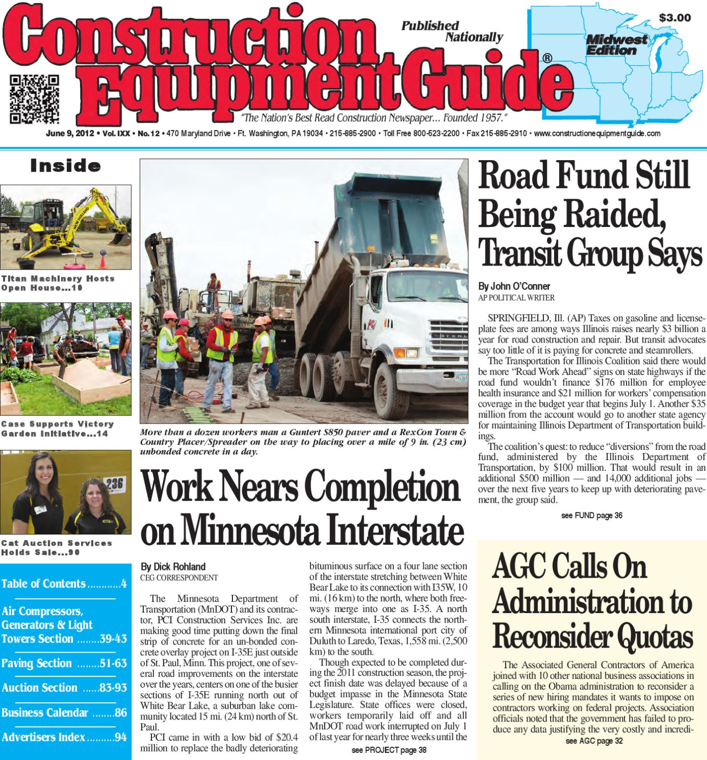 Midwest #12, 2012 by Construction Equipment Guide - issuu