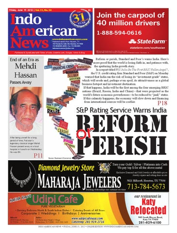 June 15 Pages 1 36 By Indo American News Issuu