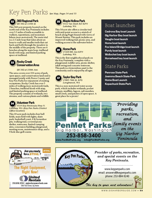 Gig harbor visitor guide by jim appelgate home park key for Furniture gig harbor