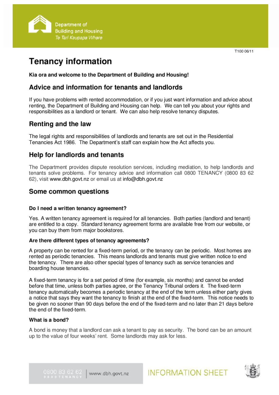 Tenancy Information By Propertyfinda Issuu