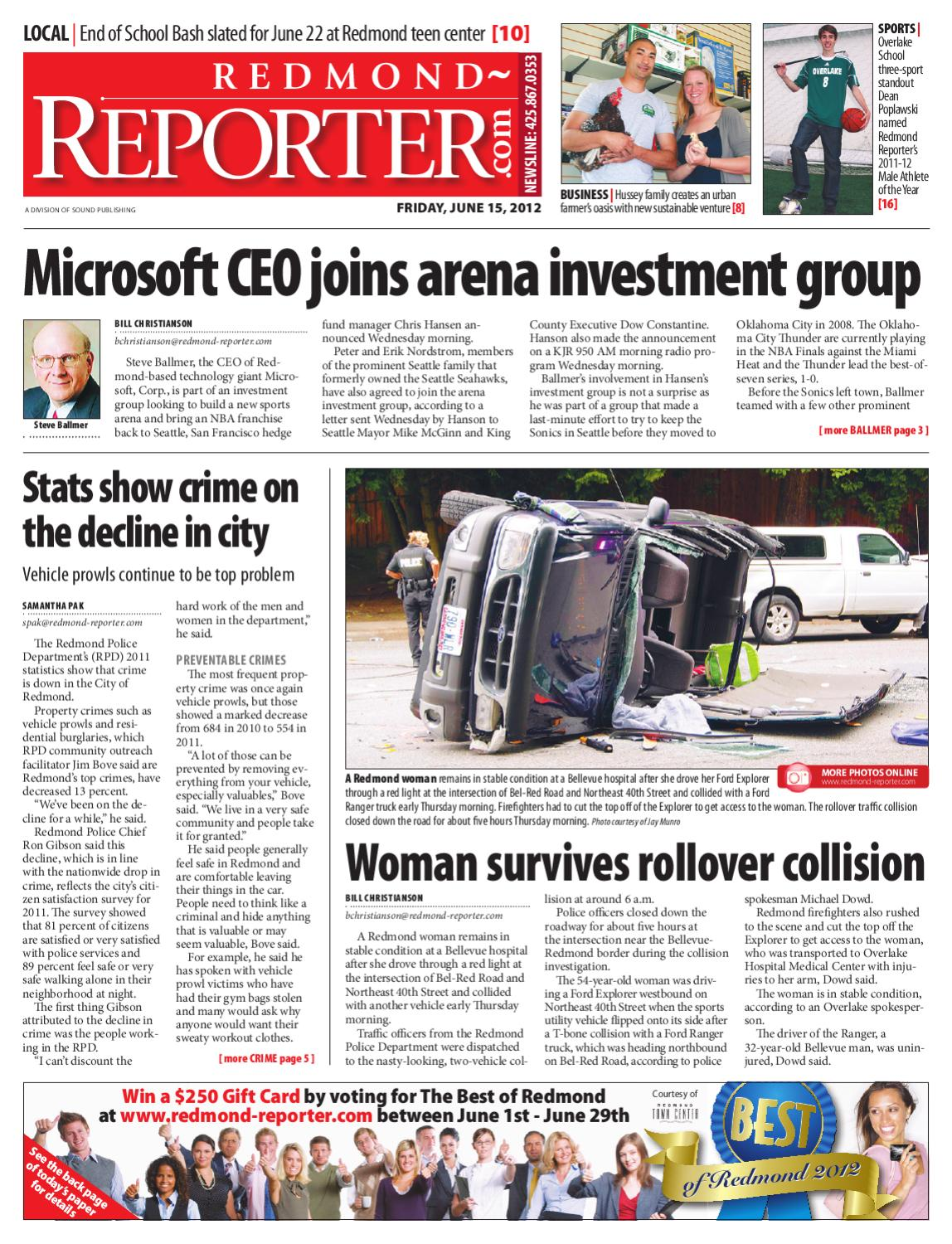 Redmond Reporter, June 15, 2012 by Sound Publishing - issuu