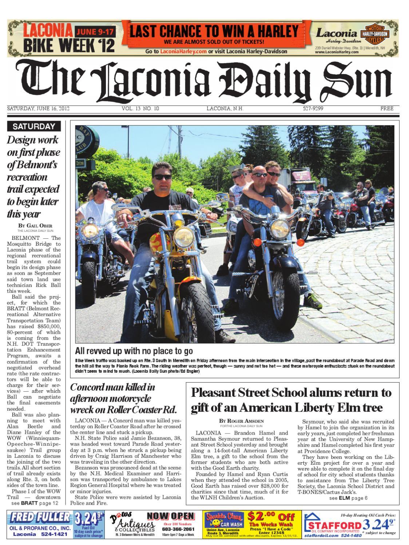 The Laconia Daily Sun June 16 2012 By Issuu Wiring Diagram For 110cc Mini Chopper Diablo
