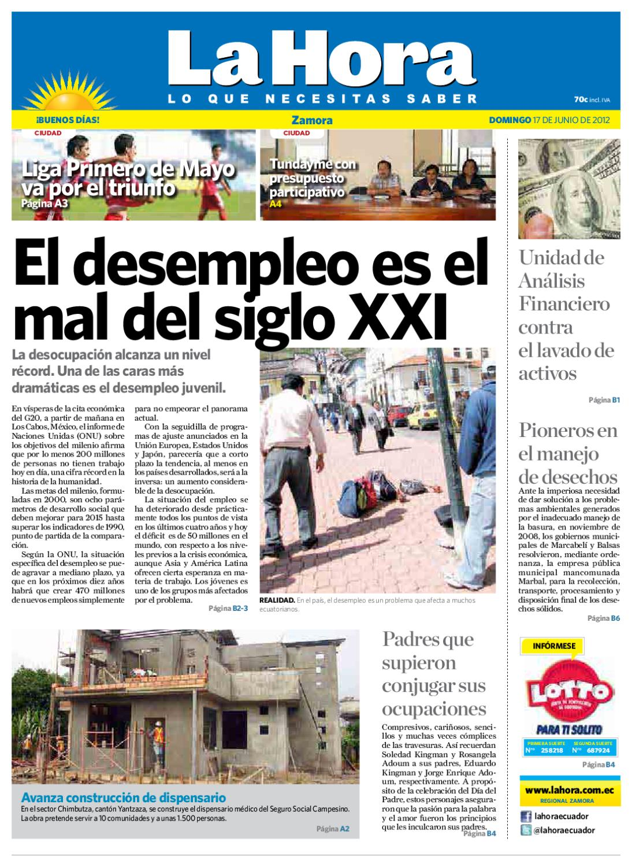 Diario La Hora Zamora 17 de Junio 2012 by Diario La Hora Ecuador - issuu