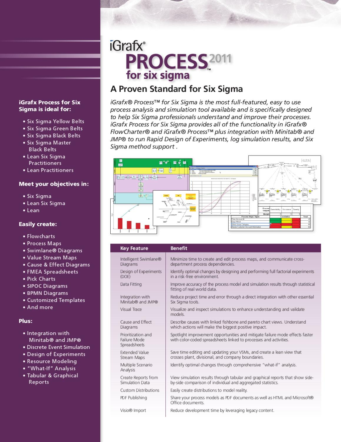 Igrafx Process 2011 For Six Sigma Brochure By Proserv Issuu Flow Diagram