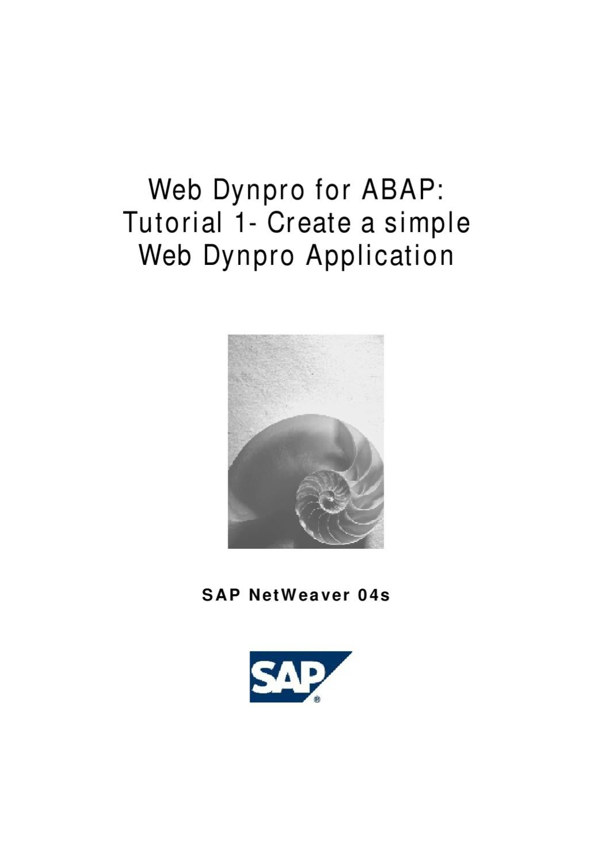 1 – Create a Simple Web Dynpro Application by rajesh g - issuu