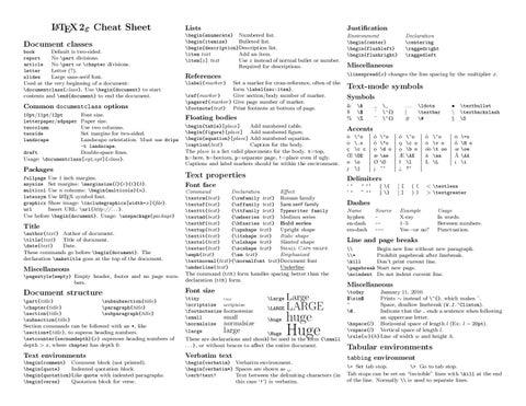 LaTeX Sheet by Gürkan özsoy - issuu