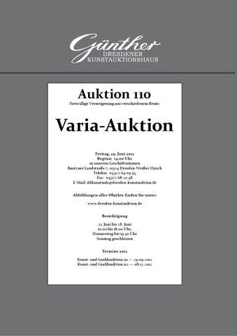 Varia Katalog 110 by Kunstauktionshaus Guenther issuu