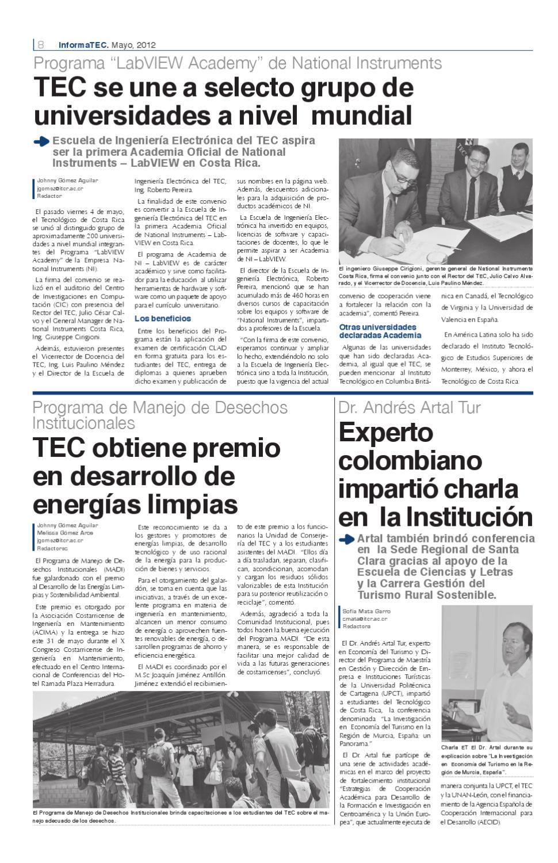 InformaTEC 322 by Tecnológico de Costa Rica - issuu