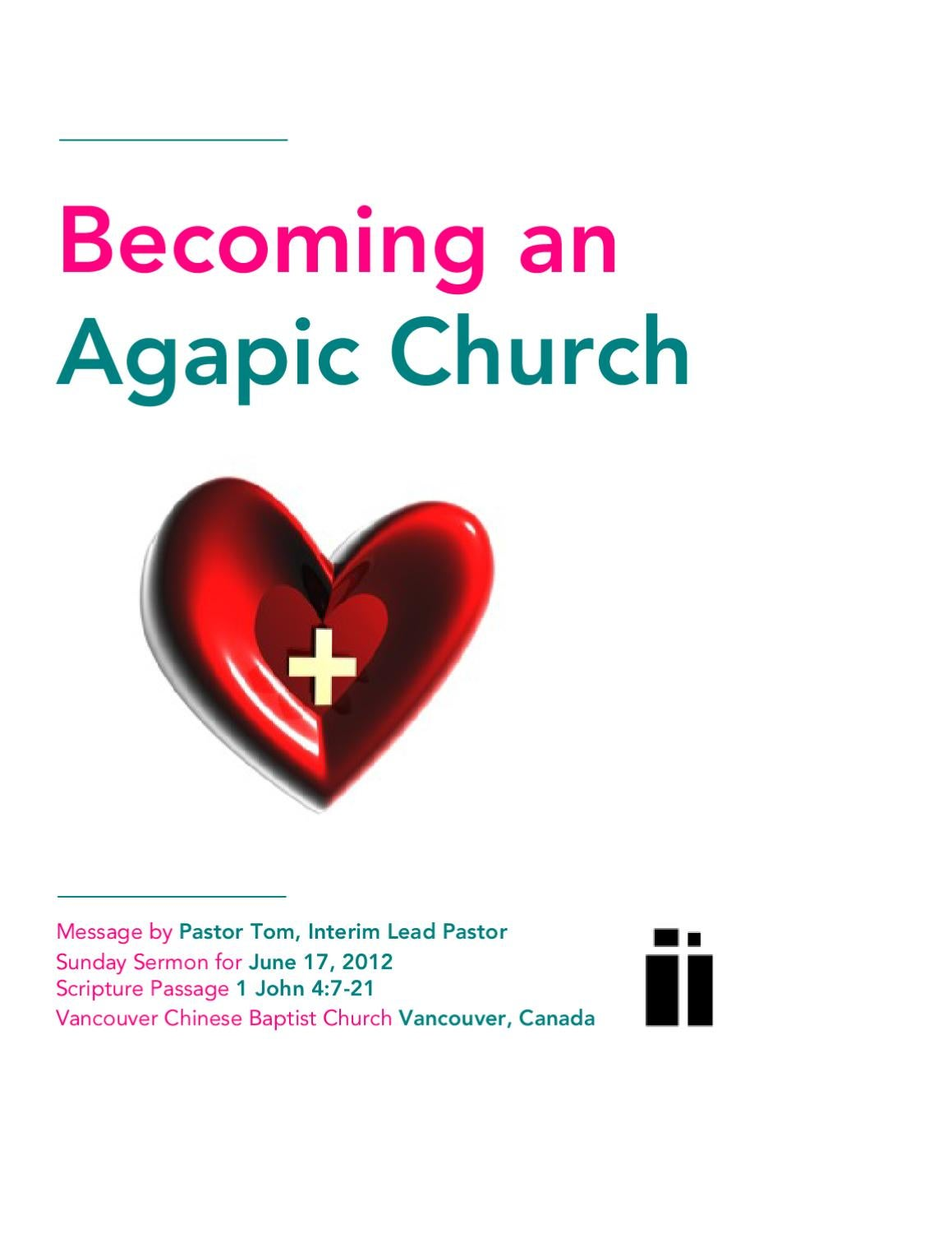 Becoming an Agapic Church by Vancouver Chinese Baptist church - issuu
