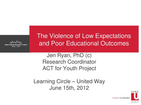 Low Academic Expectations And Poor >> The Violence Of Low Expectations Poor Educational Outcomes By Act