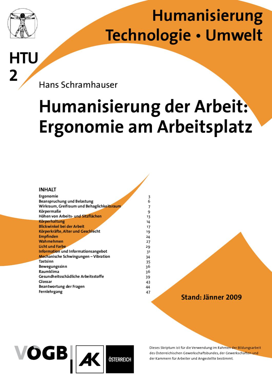 HTU-02_Humanisierung_der_Arbeit_IIErgonomie_am_Arbeitsplatz by ...