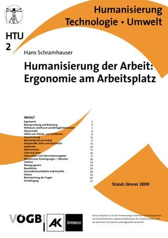 HTU-02_Humanisierung_der_Arbeit_IIErgonomie_am_Arbeitsplatz by VÖGB ...
