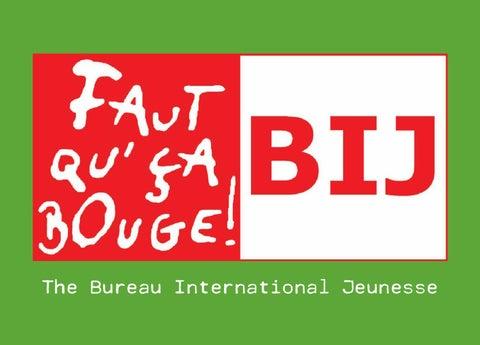 Présentation Du Bureau International Jeunesse En Anglais By