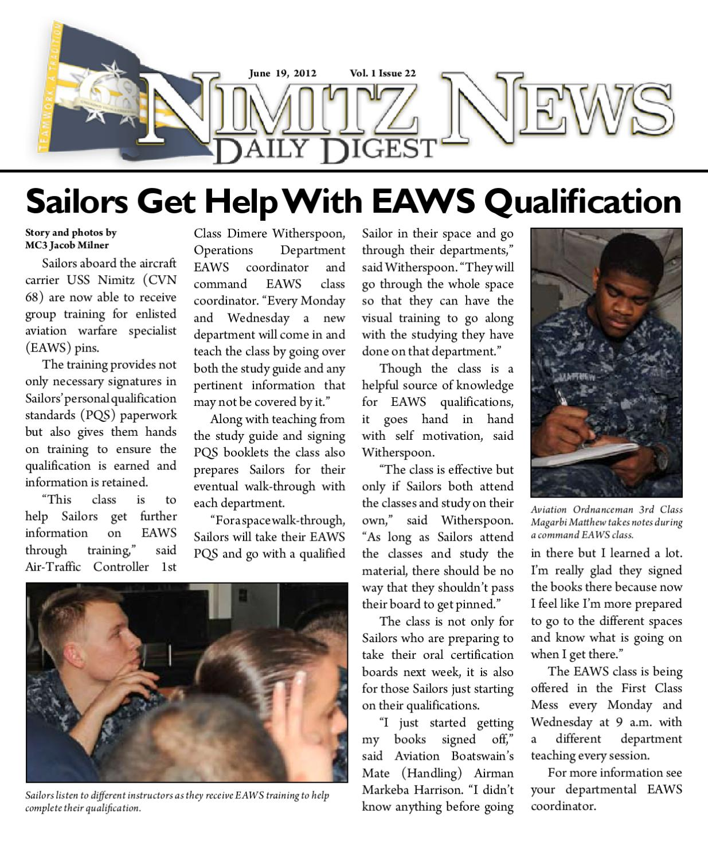USS George H.W. Bush flies ESWS, EAWS pennants ...