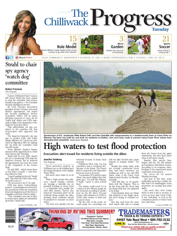Chilliwack Progress, June 19, 2012 by Black Press Media