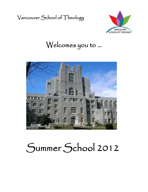 VST Summer School Handbook 2012 by Vancouver School of