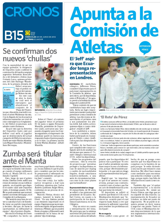 Diario La Hora El Oro 20 de Junio 2012 by Diario La Hora