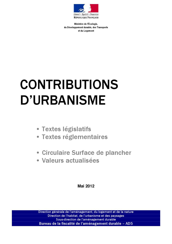 Res 1205 contributions urbanisme by laurent perez issuu - Bureau des contributions ...