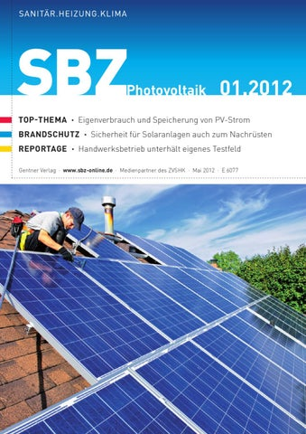 Sbz Sonderheft Photovoltaik By Alfons W Gentner Verlag Gmbh Co