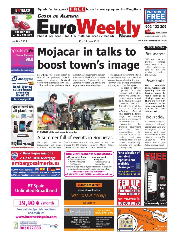 Costa De Almera 21 27 June 2012 Issue 1407 By Euro Weekly News Media SA