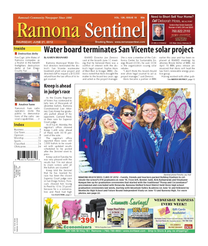 6-21-2012 Ramona Sentinel by MainStreet Media - issuu