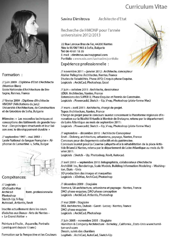 cv savina dimitrova architecte d u0026 39 etat by savina dimitrova