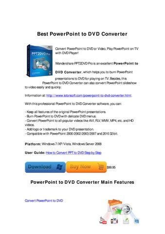 a7bd4e4fe Wondershare PPT2DVD Pro is an excellent PowerPoint to DVD Converter