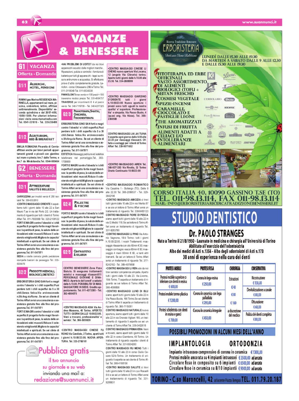 Torino affari giornale di annunci gratuiti edizione nr for Migliori tappi antirumore