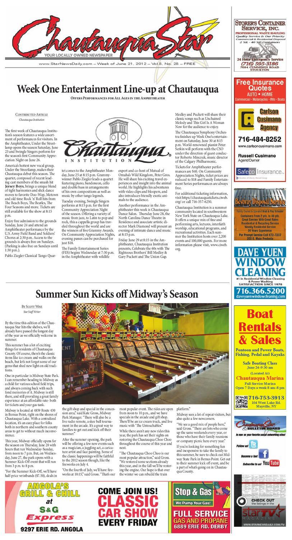 June 21, 2012 Chautauqua Star by The Chautauqua Star - issuu