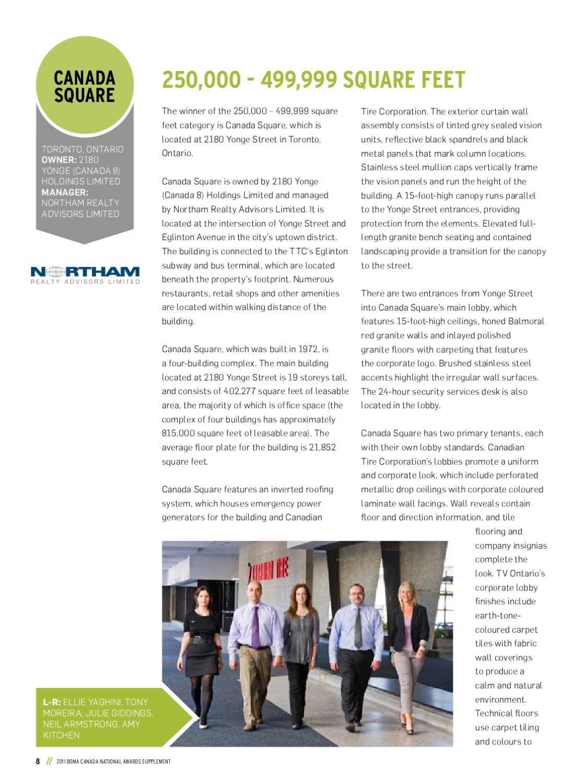 2011 BOMA Canada National Awards by MediaEdge - issuu
