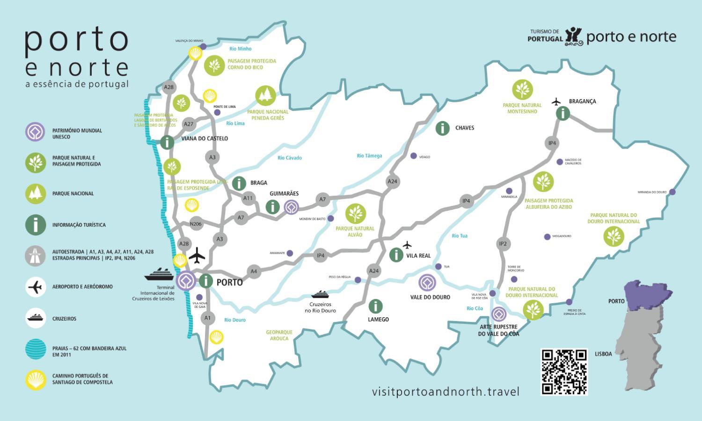 Mapa Turistico Do Porto E Norte By Porto Convention Visitors