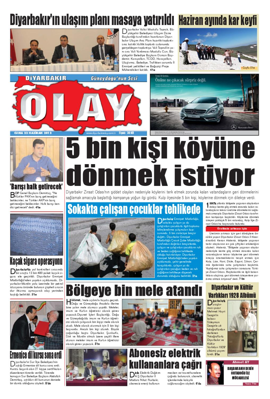 22 06 2012 Gazete Sayfalari By Diyarbakir Olaygazetesi Issuu