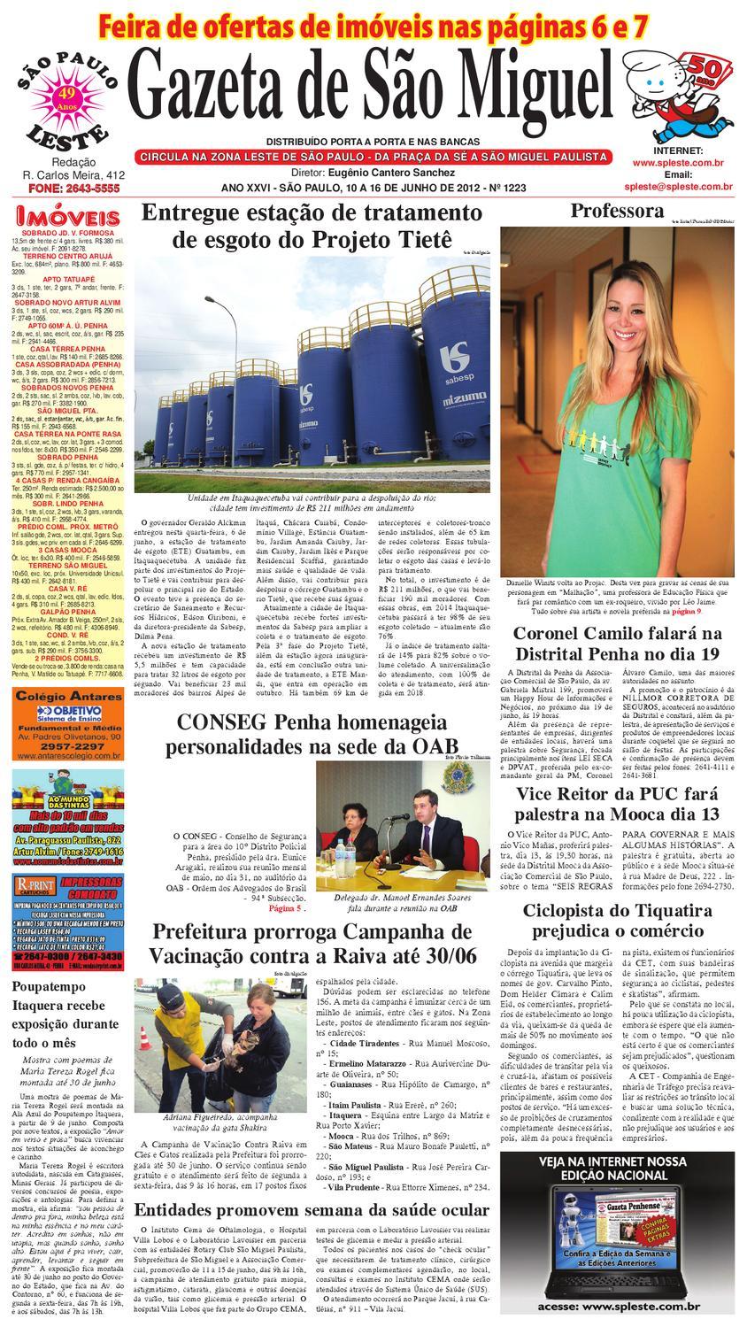 49309f2dc Gazeta de São Miguel - 10 a 16 de junho de 2012 by São Paulo Leste - issuu