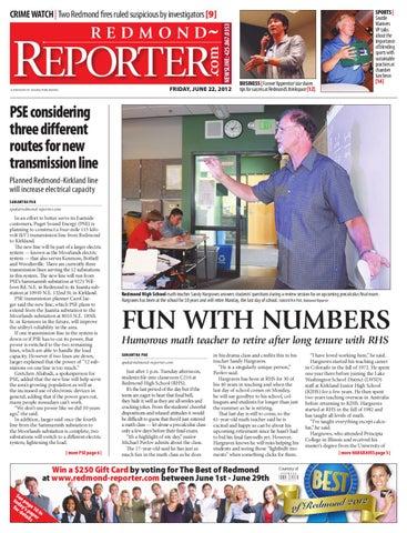 Redmond Reporter, June 22, 2012 by Sound Publishing - issuu