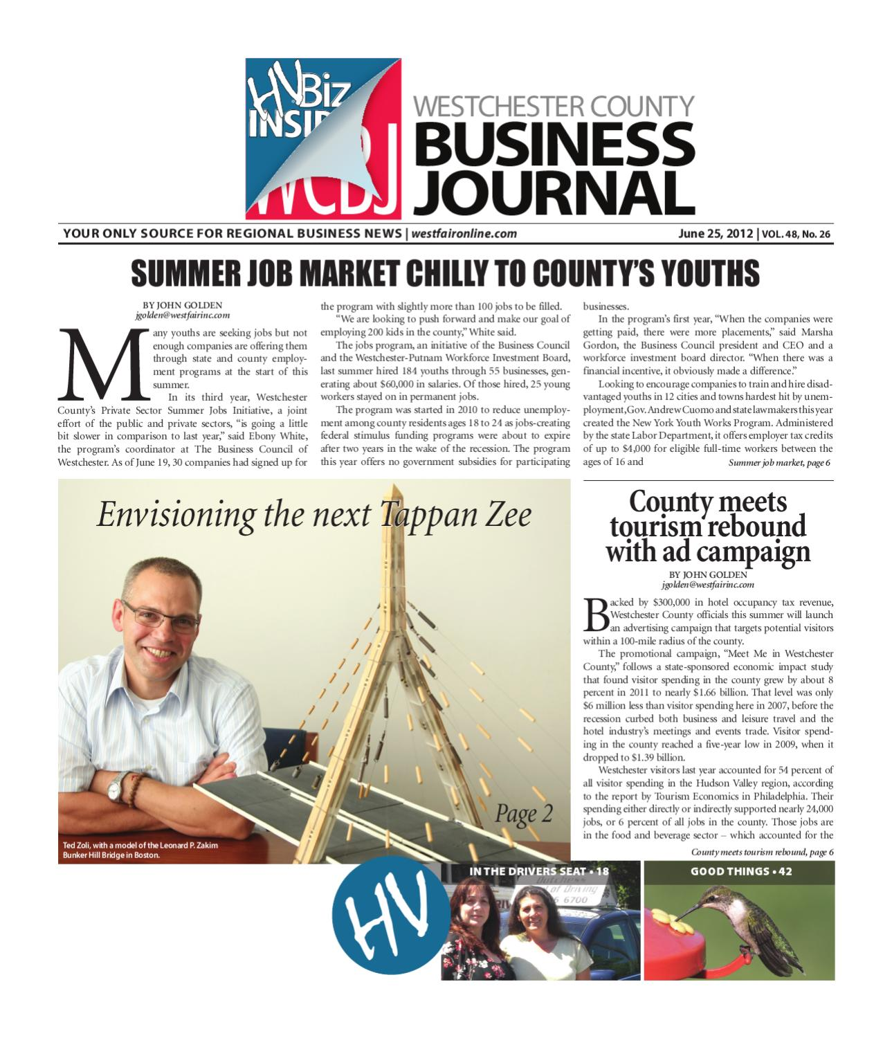 westchester county business journal 06 25 12 issue by wag magazine