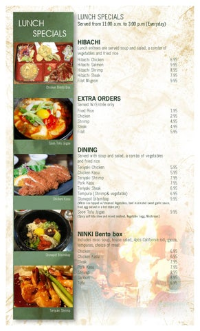 Ninki Lunch And Half Price Menu By Taemin Choi Issuu