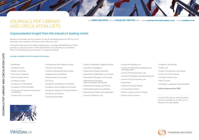 Westlaw UK Journals PDF Factsheet by Thomson Reuters - issuu