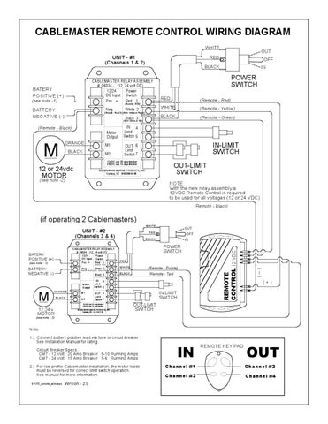 Cablemaster CM  Remote Control    Wiring    Diagr by Glendinning Marine Products  Inc  Issuu