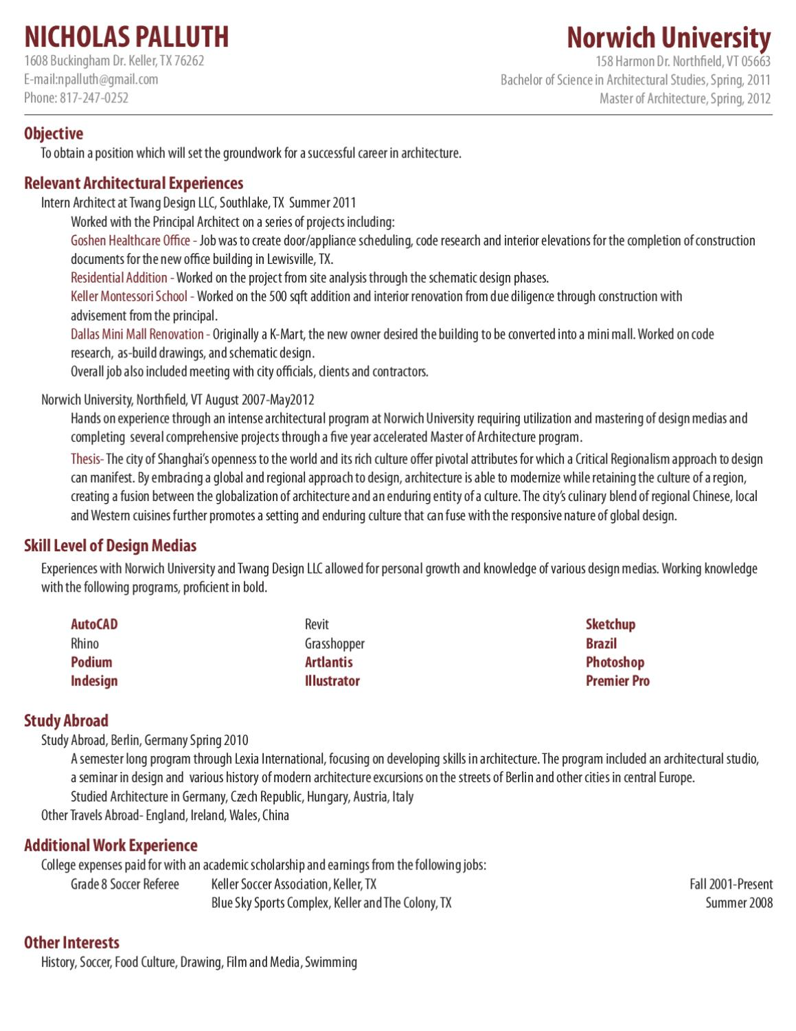 Palluth Resume By Nicholas Palluth Issuu