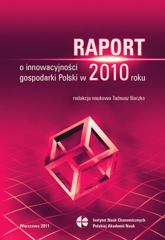 Raport o innowacyjności gospodarki Polski w 2011 roku by